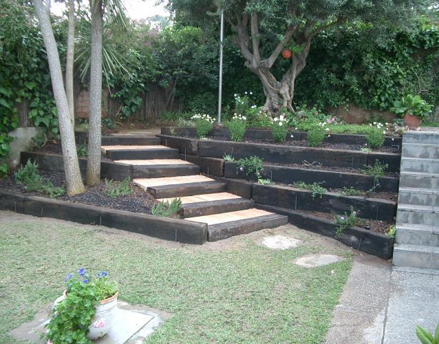 escaleras de traviesas ecotraviesas