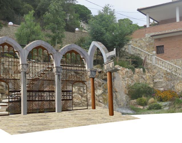 glorieta de piedras arcos recuperados