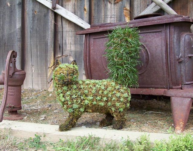 кошка зелёные скульптуры