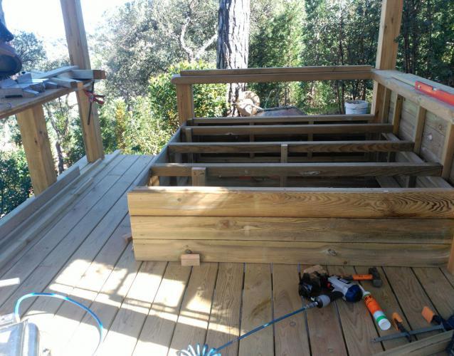 construcción tumbona cama de madera exterior