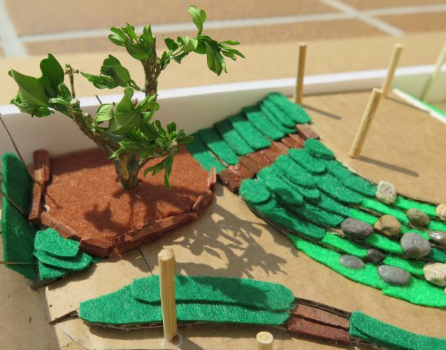 Maqueta para el patio escuela Muntanyeta Barcelona