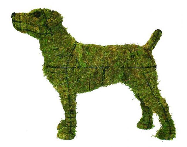 фигуры собак всех пород зелёные скульптуры