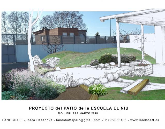 Proyecto del patio infantil Cavall Bernat Barcelona