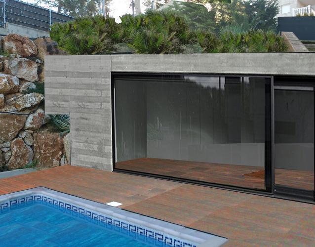 piscina y gimnasio al aire libre