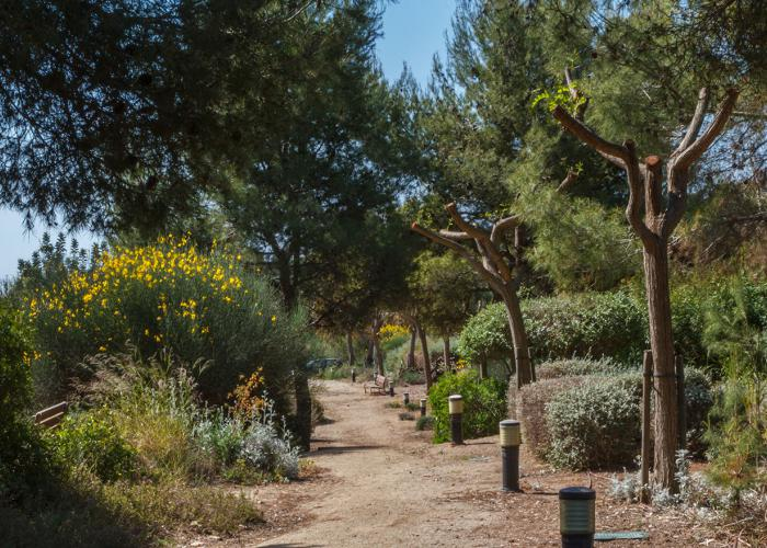 paisajismo del parque publico de Sitges