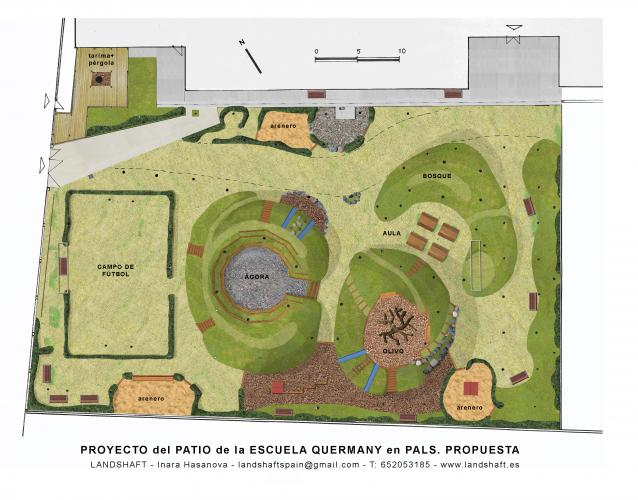 Proyecto patio escuela Quermany Pals