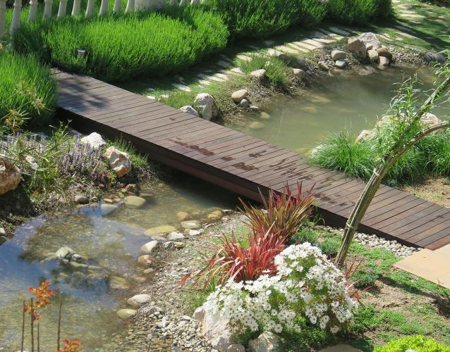 puente de madera tropical