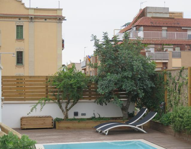 jardin mediterraneo en la terraza
